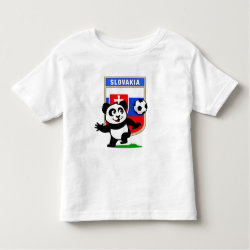 Slovakia Football Panda Toddler Fine Jersey T-Shirt