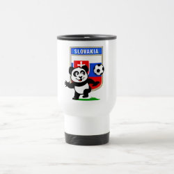 Travel / Commuter Mug with Slovakia Football Panda design