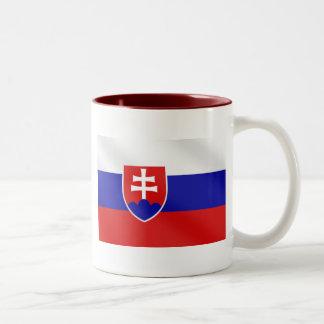 Slovakia soccer Two-Tone coffee mug