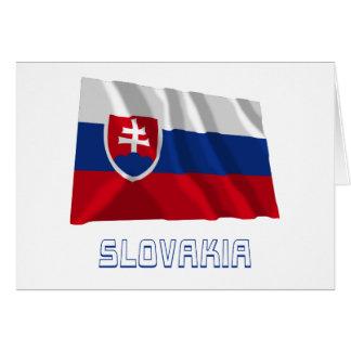 Slovakia Waving Flag with Name Card