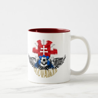Slovakia Wings of Delight soccer football gifts Two-Tone Coffee Mug