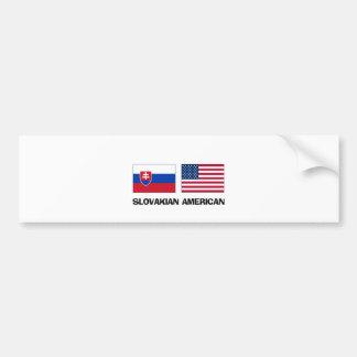 Slovakian American Car Bumper Sticker