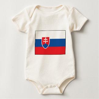 Slovakian Flag Baby Bodysuit