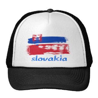 Slovakian Grunge flag design Trucker Hat