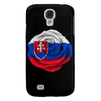 Slovakian Rose Flag on Black Samsung S4 Case