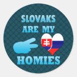 Slovaks es mi Homies Pegatinas Redondas
