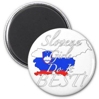 Slovene Girls Do It Best! 2 Inch Round Magnet