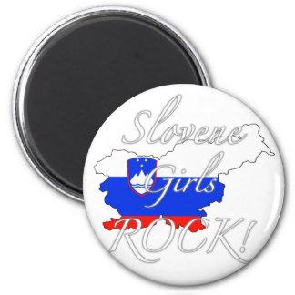 Slovene Girls Rock! 2 Inch Round Magnet