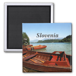 Slovenia 2 Inch Square Magnet