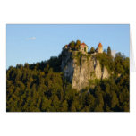 Slovenia, Bled, Lake Bled, Bled Castle on Greeting Card