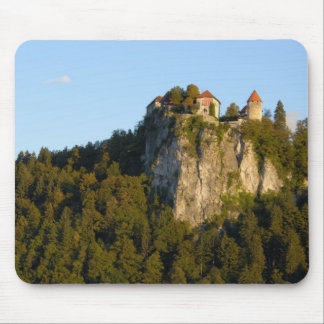 Slovenia, Bled, Lake Bled, Bled Castle on Mouse Pad