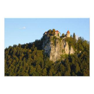 Slovenia, Bled, Lake Bled, Bled Castle on Art Photo