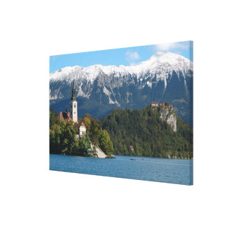 Slovenia, Bled, Lake Bled, Bled Island, Bled 2 Canvas Print