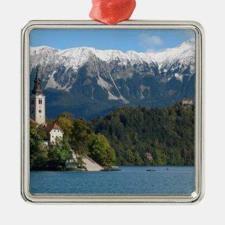 Slovenia, Bled, Lake Bled, Bled Island, Bled 2 Metal Ornament