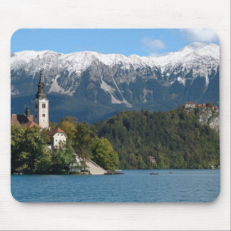Slovenia, Bled, Lake Bled, Bled Island, Bled 2 Mouse Pad