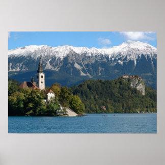 Slovenia, Bled, Lake Bled, Bled Island, Bled 2 Poster