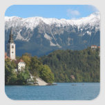 Slovenia, Bled, Lake Bled, Bled Island, Bled 2 Sticker