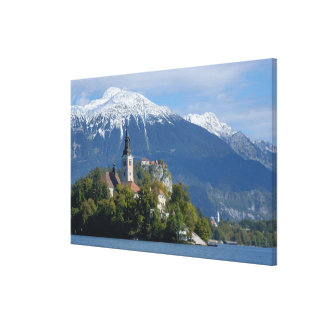 Slovenia, Bled, Lake Bled, Bled Island, Bled Canvas Print