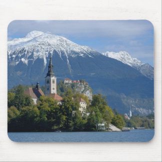 Slovenia, Bled, Lake Bled, Bled Island, Bled Mouse Pad