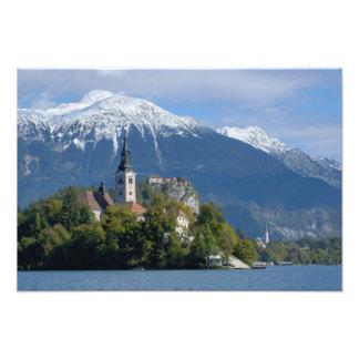 Slovenia, Bled, Lake Bled, Bled Island, Bled Photo Print