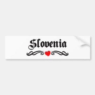 Slovenia Car Bumper Sticker