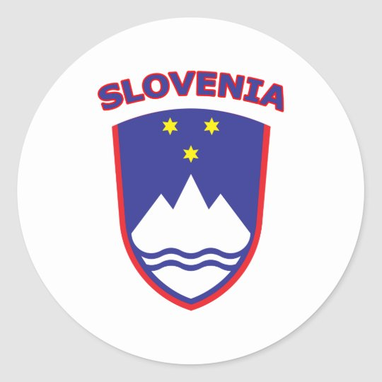 Slovenia Classic Round Sticker