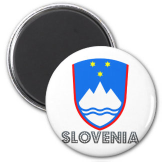 Slovenia Coat of Arms 2 Inch Round Magnet