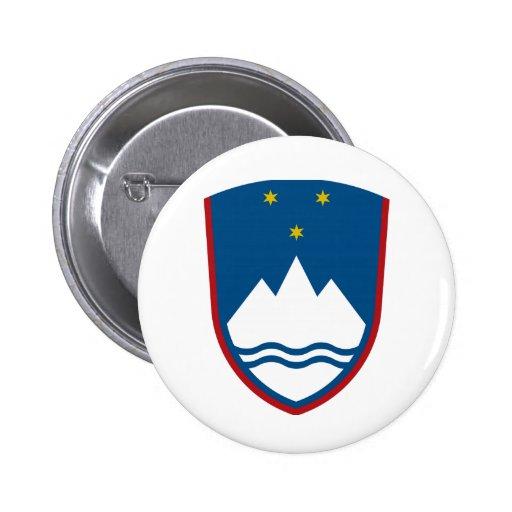 Slovenia Coat of Arms Button