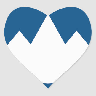 Slovenia Coat of Arms Heart Sticker