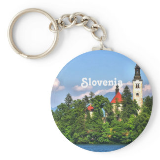 Slovenia Countryside Keychain