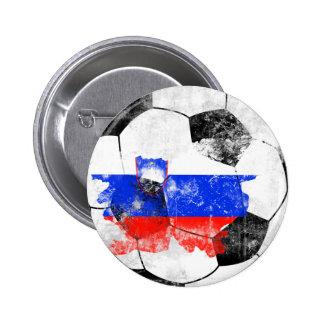 Slovenia Distressed Soccer 2 Inch Round Button