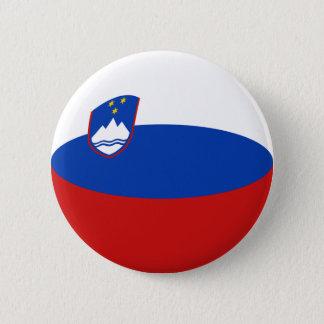 Slovenia Fisheye Flag Button