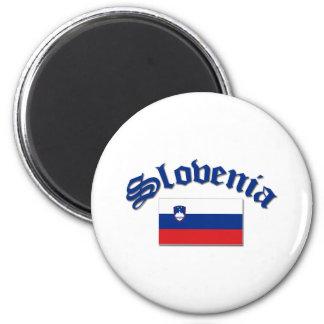 Slovenia Flag 1 2 Inch Round Magnet