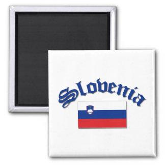Slovenia Flag 1 2 Inch Square Magnet