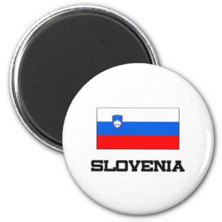 Slovenia Flag 2 Inch Round Magnet