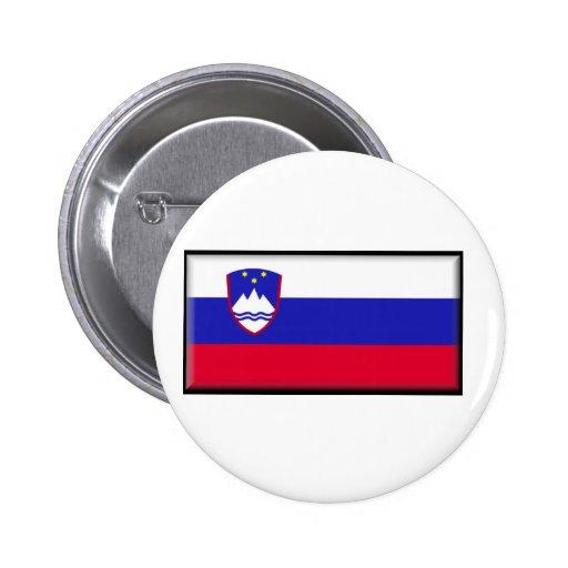 Slovenia Flag Pinback Buttons