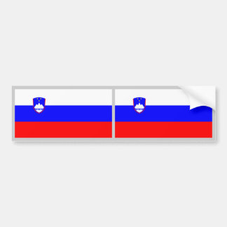 Slovenia Flag Car Bumper Sticker
