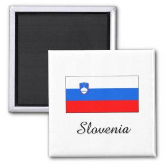 Slovenia Flag Design 2 Inch Square Magnet