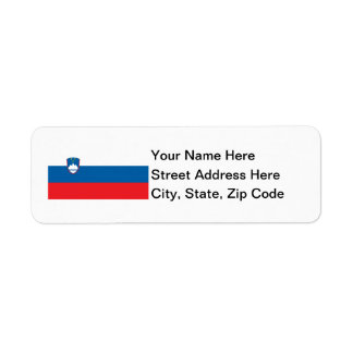 Slovenia Flag Custom Return Address Labels