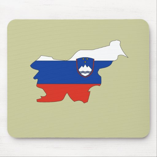 Slovenia flag map mouse mats