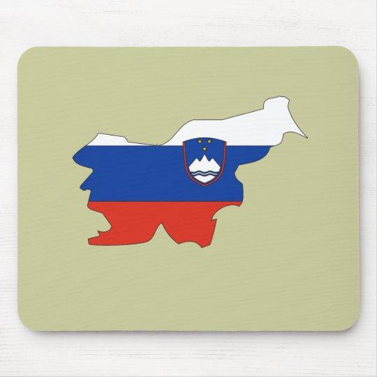 Slovenia flag map mouse pad