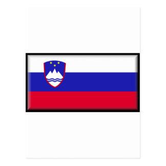 Slovenia Flag Post Card