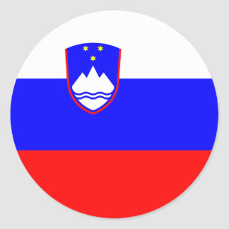 Slovenia Flag Round Stickers (pack)
