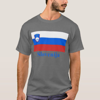 Slovenia Flag with Name in Slovenian T-Shirt