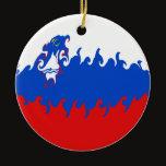 Slovenia Gnarly Flag Ceramic Ornament