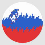Slovenia Gnarly Flag Classic Round Sticker