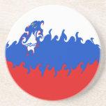 Slovenia Gnarly Flag Sandstone Coaster