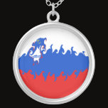 Slovenia Gnarly Flag Silver Plated Necklace