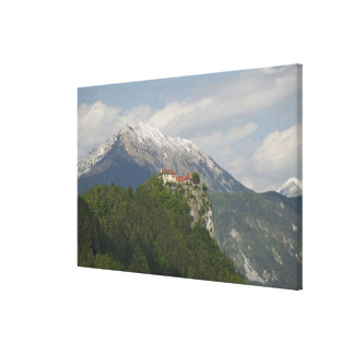 SLOVENIA, GORENJSKA, Bled: Bled Castle & 2 Canvas Print