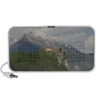 SLOVENIA, GORENJSKA, Bled: Bled Castle & 2 Mp3 Speakers